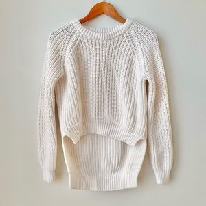 H&M | TREND THICK HI-LOW KNITTED SWEATER CREAM